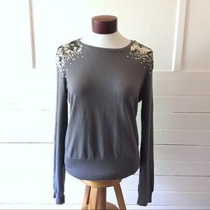 H&M Sweater with Sequined Shoulders